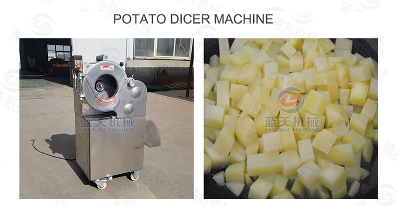 Potato dicer machine