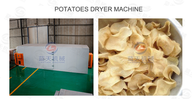 Potatoes dryer machine