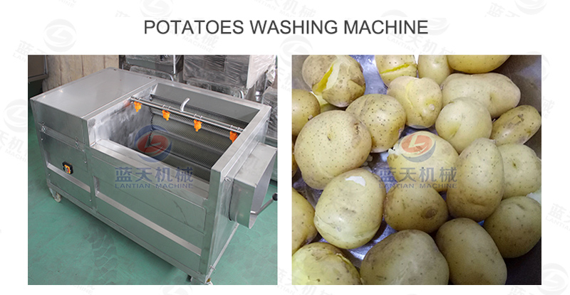 Potatoes washing machine