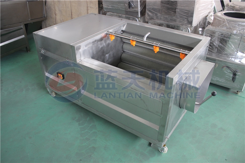 The cassava washer machine rack is made of high quality stainless steel
